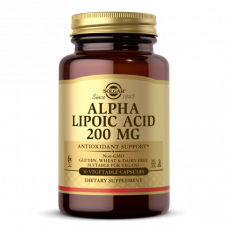 Solgar ALPHA LIPOIC ACID 200 MG VEGETABLE CAPSULES