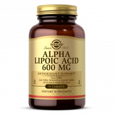 Solgar ALPHA LIPOIC ACID 600 MG TABLETS