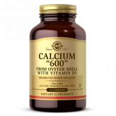 """Solgar CALCIUM """"600"""" TABLETS (FROM OYSTER SHELL WITH VITAMIN D3)"""