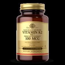 Solgar NATURALLY SOURCED VITAMIN K2 (MK-7) 100 MCG VEGETABLE CAPSULES