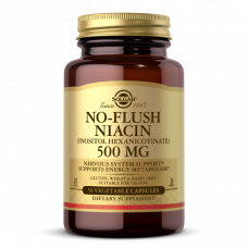Solgar NO-FLUSH NIACIN 500 MG VEGETABLE CAPSULES (VITAMIN B3) (INOSITOL HEXANICOTINATE)