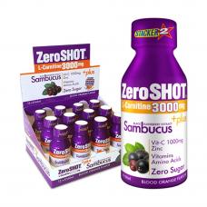 ZeroSHOT 60 ML 3000Mg L-Carnitine   Plus Sambucus 12 Adet